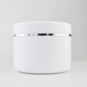 30g 50g 100g 200g 300g refillable makeup cosmetic face cream plastic white jars with dome lid