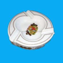 Vintage nice large porcelain 3pcs cigar ashtray