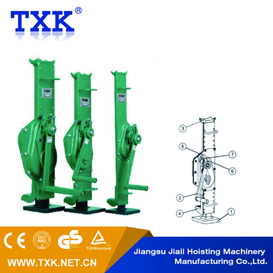 5TON 10TON mechanical jack for heavy-duty applications crank handle mechanical machinery Jacks ratchet steel jack