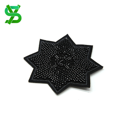 Factory direct sale cheap fashion garment accessory bead patches embroidery custom for hats