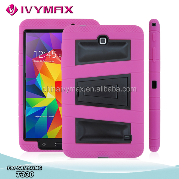 Wholesale shockproof silicon case for Samsung T330 tablet phone covers