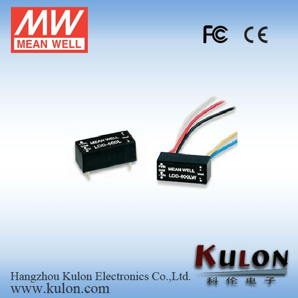 MEANWELL 600mA DC/DC 12v dc input Constant Current LED Driver with PWM Dimming Function FCC&CE Approvals