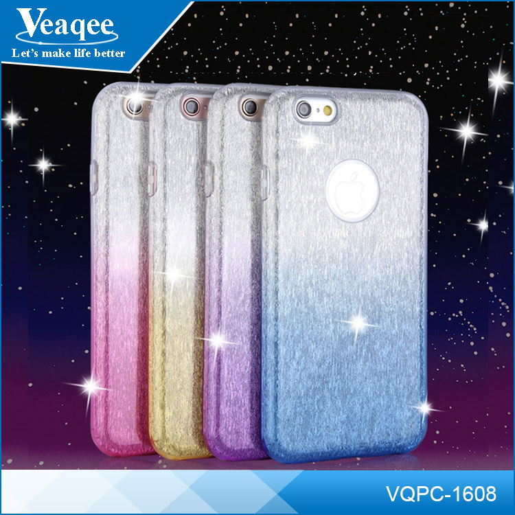 Veaqee Bling shiny 4 colors soft tpu silicone case for iphone 6 plus, cheap price mobile phone cover for iphone 6 6s plus