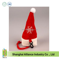 Promotional 190T Polyester funny Christmas gift bag in Hat shape