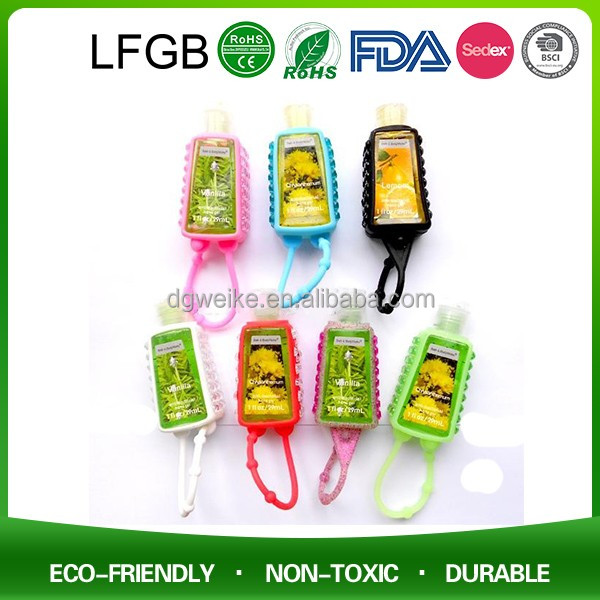 2017 Cheap Hot Promotional Items / OEM Silicone Hand Sanitizer Holder