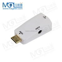 Mini HDMI to VGA Adapter Male To Female for HD TV PC Projector HDMI to VGA Switch Converter