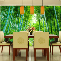 Ceiling wall beauty club waterproof wallpaper 3d bamboo mural landscaping grass customize