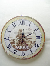 12INCH MDF Round Shape Vintage Wooden Wall Clocks