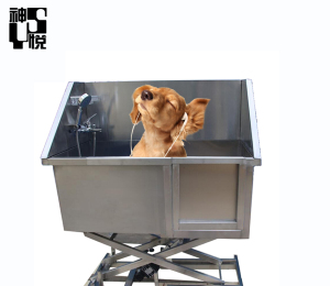 High quality Best price waterproof anti-slip free standing dog bath tub table