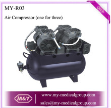 Best Price with CE Approved Portable Dental Air Compressor (One for Three)