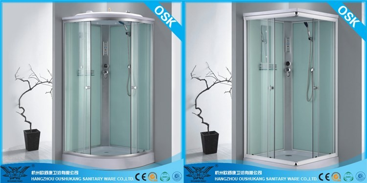 Factory direct sale bathroom furniture cheap fibreglass shower cubicle with tray