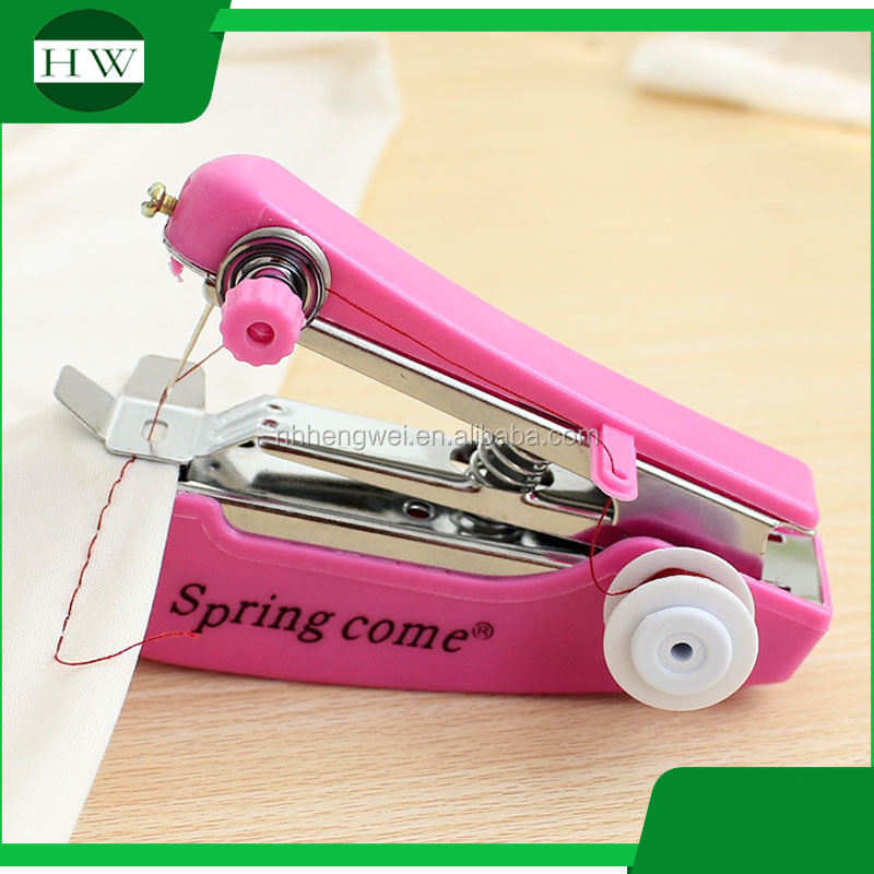 Hand Operated Manual mini overlock portable hand stitch household sewing machine pocket sewing machine