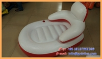 Promotional flocking inflatable lounge sofa