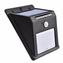 Hot Selling Eco-friendly Outdoor Waterproof 16 LED Garden Motion Sensor Solar Light and Human Induction Control