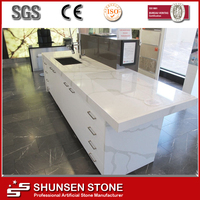 Non porous artificial stone quartz design kitchen counter tops V111