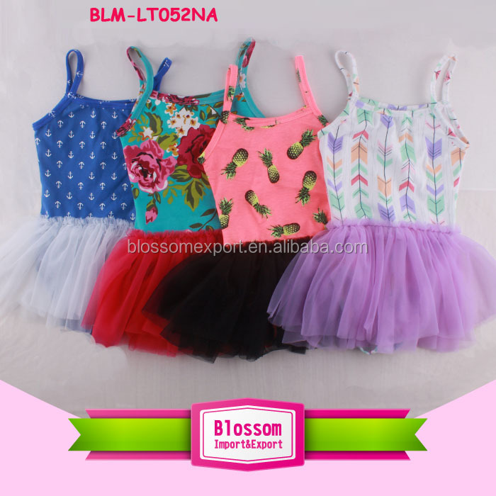 Gymnastics Stage Dance Wear Cute Dress costume children Kids Camisole Ballet Tutu Skirted dance floral tutu dress leotard