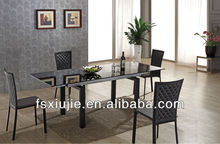 Modern 6/8 Seaters Large Extendable Dining Table With Chrome Legs PL808G