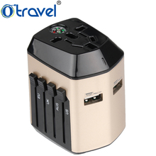 Otravel 2017 new design compass universal travel adapter China traditional electronic gift items for men