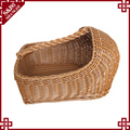 plastic rattan storage baskets with handle for hotel shoe basket