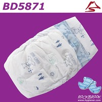 High Quality USA Pulp Disposable Grade B Baby Diaper Manufacturer with Model BD5871 from China