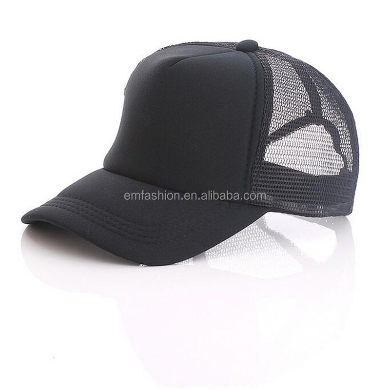 Cheap Customized Design Advertising Promotions Unisex Plain Blank Baseball Mesh Net Foam Trucker cap