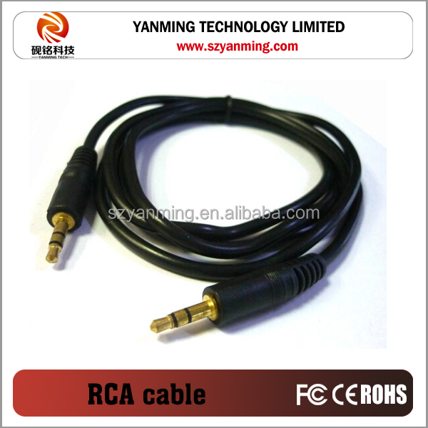 Silver Plated 3.5 jack to rca 3.5mm Male Stereo Jack to 2 Female RCA Plug Cable