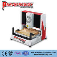 wood, plastic, MDF, ABS hobbyist users 3D CNC desktop Wood Router milling machine for Bravoprodigy