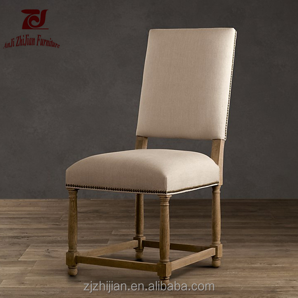Rubber Wood Furniture Antique Wooden French Style Louis Dining Chair ZJF60a