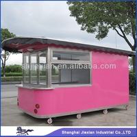 2015 Shanghai Newly design Fast food van JX-CR380 cotton candy park trailer