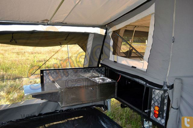 Trailer Tailgate Kitchens for camping