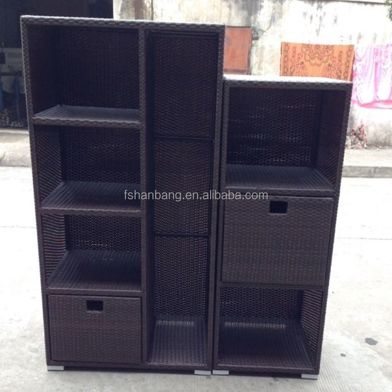 Waterproof Resin Wicker Patio Home & Garden Outdoor Rattan Storage Cabinets