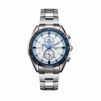Economy price stainless steel band winner watch