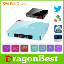 X96 Pro Xnano S905X 2G 16G android tv box with skype camera 6.0 set top 2gb 32gb high quality Android TV Box