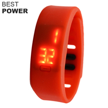 Touch screen Silicone digital LED sports silicone watch