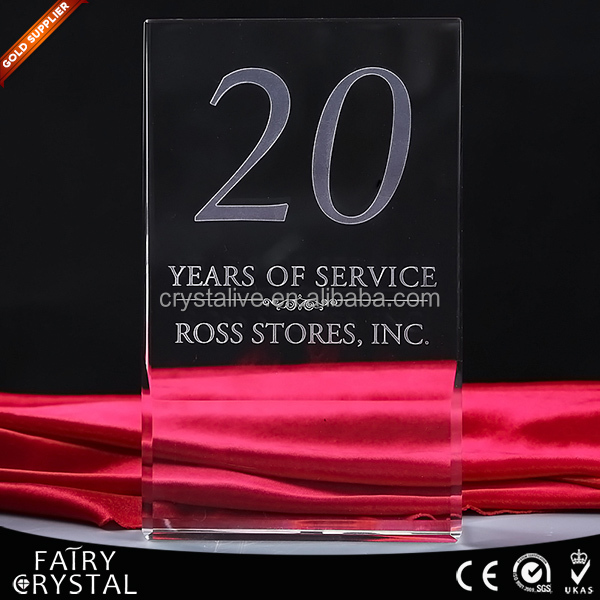 Hot sales souvenir crystal plaque/blocks for 3d photo laser engraving