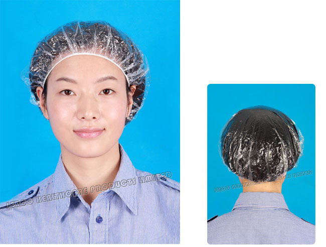 Free sample disposable transparent ldpe hotel shower cap