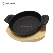 Great Selling Cast Iron Sizzling Steak Hand Pan With Cooking Pot Cookware Set For Sale