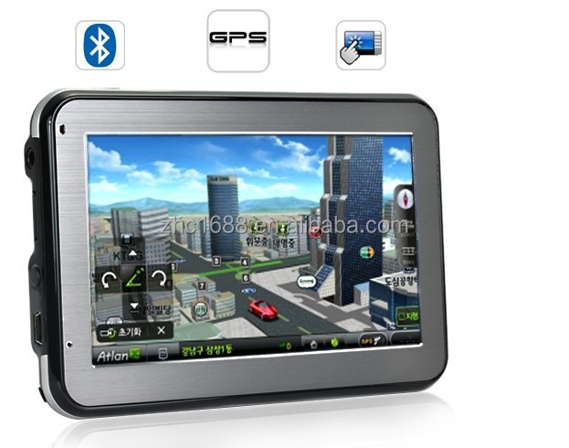 4.3inch gps navigation 4GB Capacity Support Russian / Hebrew/ Russia/ Ukraine/ Belarus with newest 2/ 3Dmap
