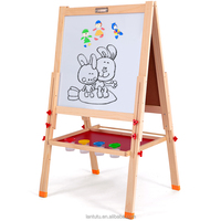 Double-sided Foldable Magnetic Children's Blackboard & Whiteboard for Writing, Painting