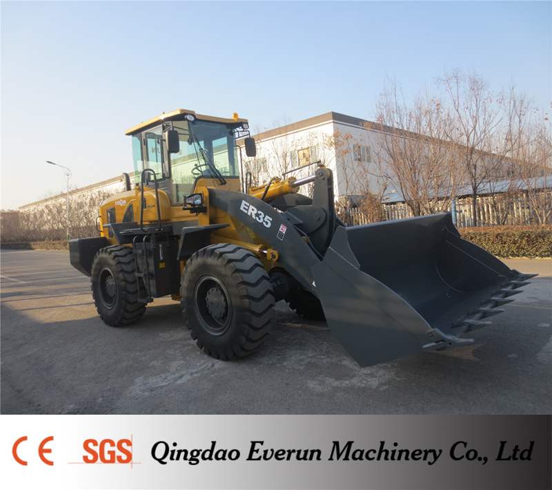 Everun Brand New Generation 3ton Wheel Loader zl30 with Pallet Forks For Sale