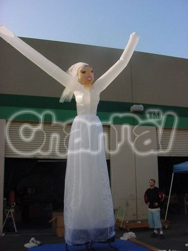 Inflatable Bride Sky Air Dancers with Blower for Wedding Party