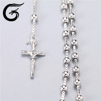 Guolong mens jewelry 2016 sterling silver cross necklace chain necklace