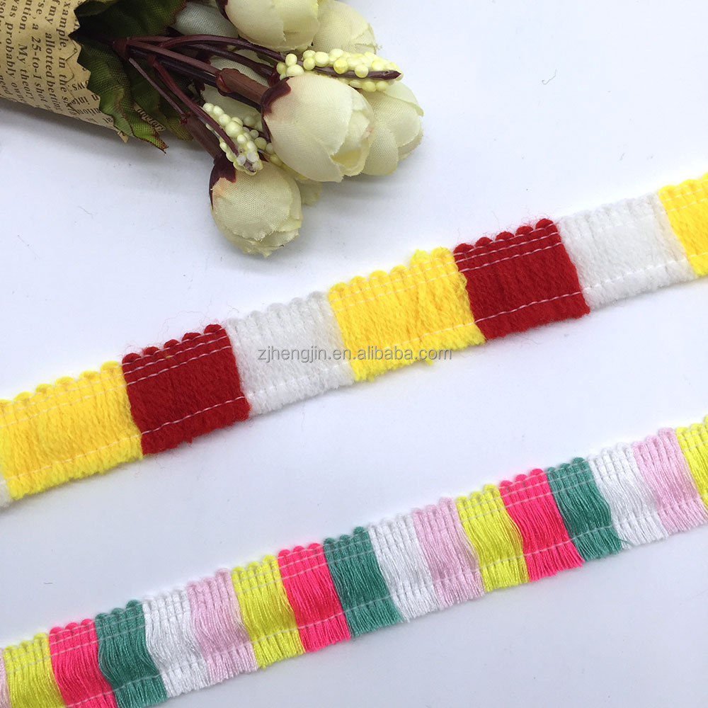 Handicraft decoration ethnic style colorful tassel lace
