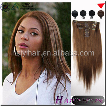 Wholesale Alibaba Remy Virgin Hair clip in remy hair extension italian curl