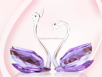 crystal swan wedding door gifts