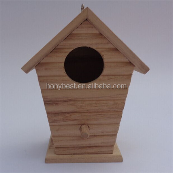 New Unfinished Wooden Bird House Wholesale,Wood Bird Cages,Bird Nest