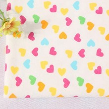 new design healthy custom love heart print organic cotton interlock fabric wholesale