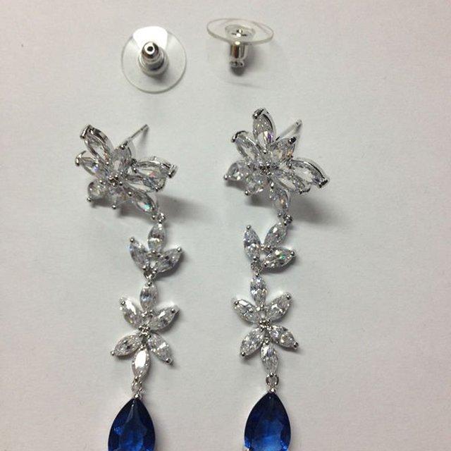 Arabic women dress/wedding earring/cubic zirconia jewelry/brass Alloy