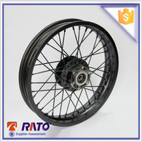 Black spoke motorcycle rims with high profile for sale