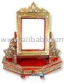 ANTIQUE MIRROR STAND ON TABLE /handicraft product
